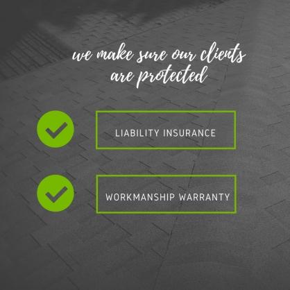 L.I.D. Roofing - insured -workmanship warrranty